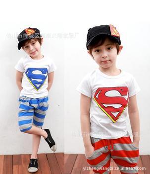 2013 NEW Design Children Kids Clothing Boys Summer Short Sleeve Wear HOT Sale 5 sets a lot