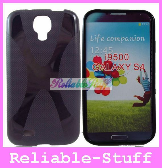Anti-Slip X Line Rubber Skin TPU Gel Case Cover Skin for Samsung Galaxy S4 i9500 S 4 S IV 200pcs/lot free shipping I9500C11(China (Mainland))