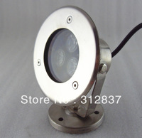 Freeshipping High quality 6pcs/lot DC12V 3W LED Underwater Light lamp,IP68,Warm white/white,300LM, D110*H130MM