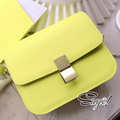 2013 bags vintage neon color lockbutton small bag one shoulder cross-body bags female