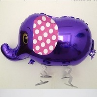 Free shipping factory direct retail&wholesale, Cartoon elephant Design Foil Ballon/ Party & Holiday Balloon, 10pcs/lot
