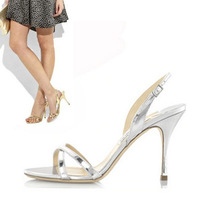 2012 fashion plus size classic brief silver sexy high-heeled sandals 198 - 9
