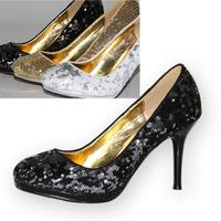 Gold wedding shoes high-heeled shoes bridal shoes high-heeled shoes autumn shoes 288 - 11