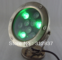 Wholesale 6pcs/lot AC12V 9W RGB LED Underwater Lighting,IP68 D140*H160MM,9*1w led underwater lamp,Freeshipping