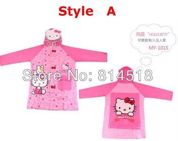 5pcs/lot Cartoon design PVC children rainwear rainsuit kid rain poncho rainproof baby raincoat,free shipping