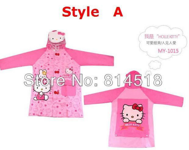 5pcs/lot Cartoon design PVC children rainwear rainsuit kid rain poncho rainproof baby raincoat,free shipping(China (Mainland))