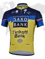 Free shipping 2013 SAXO Tinkoff Bank yellow blue cycling clothing of bib short/Cycling Clothing/Cycling Gear