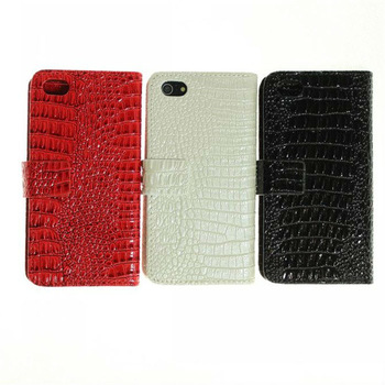 1pc Free Shipping Bulk Fold Multi Card Holder Stand Pouch for iPhone5,Crocodile Leather Case for Iphone5, Wallet Leather Handbag