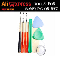 New 8 in 1 Repair Tools Kit Set T-5,T-6 screwdriver Picks for Samsung, HTC free shipping  5 sets/lot