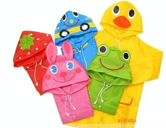 Linda Linda Funny Rain Coat,Kids Raincoat/Rainwear/Rainsuit,Kids Waterproof Garment/Animal Raincoat,free shipping(China (Mainland))