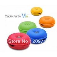 Turtle Cable Cord Wire Organizer Winder For iPhone iPod Cellphone MP3 Laptop PC Free Shipping &amp; Drop Shipping 5pcs/lot