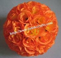 30cm 12pcs/lot ORANGE rose ball wedding flower ball decoraiton