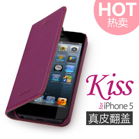 For apple 5 mobile phone case for iphone 5 mobile phone genuine leather case for iphone 5 holsteins protective case