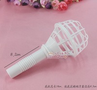 Free Shipping 30pcs/lot Straight Handle bride holding bouquets holders of flowers material wedding Empty Wholesale