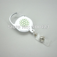 2013 new-style Rhinestone Retractable Carabiner Reel