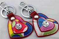 G women's single-circle heart keychain key chain key ring car keychain