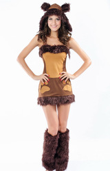 Free Shipping Sexy Game uniforms with Halloween hat fuzzy puppy role playing 8637 costumes stage(China (Mainland))