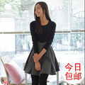 2012 autumn and winter women basic skirt slim long-sleeve dress female