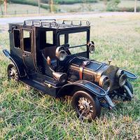 [Vic] Free shipping Black iron vintage retro classic cars model finishing decoration metal handmade technology gift 27*12*15cm