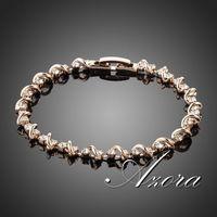 AZORA Unique Design 18K Rose Gold Plated Stellux Austrian Crystal Bracelet TS0020
