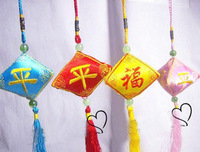Trigonometric dumplings embroidery tassel sachet