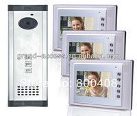 Three Floor User Colorful 7 inch Video door phone,multi apartments video door phone