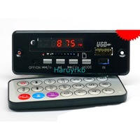 free shipping Digital LED 5V MP3 decode with 2*3W amplifier + remote control/usb SD  WITH  tracking number