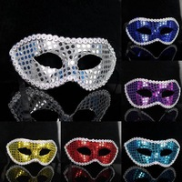 multicolor costume party halloween masquerade performing masks women dot sequins cardin mask free shipping promotion