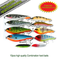 free shipping combination lure set the best selling 10 colors fishing lure jerk bait 10 pcs-TLF-10-435#