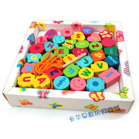 Free shipping Multicolour beads baby 1 - 2 years old beads wooden blocks wool