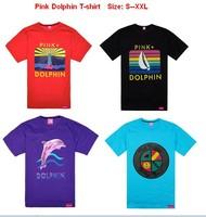 Men's fashion 2013 Pink Dolphin t-shirt,high quality hip hop fashion New style t-shirt 5 pcs Per Lot