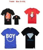 2013 mens hip hop t shirt new style crooks and castles diamond supply dgk trukfit ymcmb big size s-xxl 12 pcs Per Lot