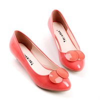 2013 single shoes sweet candy color women's shoes comfortable japanned leather single shoes