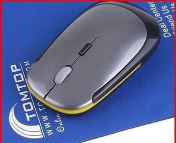 5lot /pc   PROMOTION 1200 DPI Ultra Thin 2.4G USB 2.0 Wireless Mouse Slim Mice 2.4G Receiver for Laptop PC