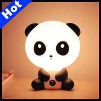 Lovely Cartoon Desk Lamp Panda Table Lamp Panda Night Light Cartoon Christmas Gifts Free Shipping LE11