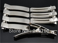 80pc Silver square metal Hair Alligator Clip 48mm