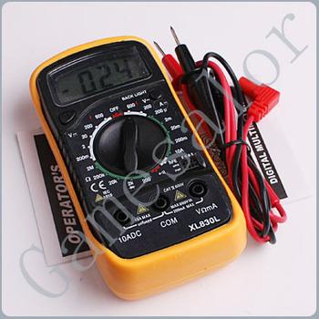 Free shipping dropshipping Professional Electric Handheld Digital Pocket DC/AC Multimeter Tester Measurer #9923