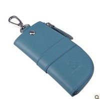 Leather 2013 spring new arrival key bag fashion keychain leather key bag genuine leather keychain