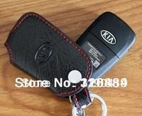 free shipping Kia Optima K5 2011 key cover leather 3 button