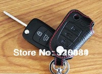 free shipping Kia Optima K5 2011 key cover leather 3 button    v4