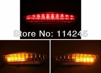 motorcycle parts Clear Integrated LED Tail Light Signals For Kawasaki Ninja ZX6R 2007 2008