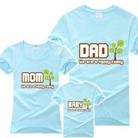 1 Lot=3 pcs! 2013 family set family pack family fashion short-sleeve T-shirt 3 household