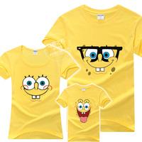 1 Lot=3 pcs! Parent-child t-shirt short-sleeve plus size fashion summer family set for three/four families