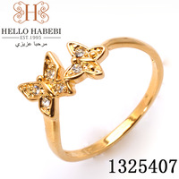 Exquisite Lovely Butterfly crystal 18K gold plated fashion ring ,Austrian Crystals jewelry 1325407