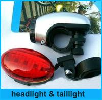 Hot!Brand New Bycicle Lights Set  Waterproof Ultra Bright LED Bike Light Front Light & Rear Light Drop/Free Shipping