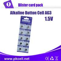 50PCS/5CARD,PKCELL1.5V AG3 392A SR41SW LR736 392 SR736 Button Cell Batteries Alkaline Cell Button Coin Battery
