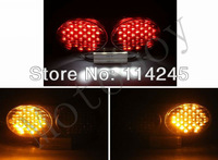 motorcycle parts Smoke Integrated LED Tail Light Signals For Kawasaki ZR7S/ ZX6R J1/J2 / ZX6R G1/G2 /ZX900/ ZX9R/ ZZR600