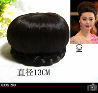 Free shipping Style wig bag wig bun cheongsam formal dress costume wigs hair piece bride wig