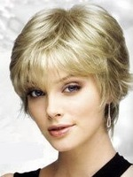 Stylish Short curly human made hair healthy wig/wigs