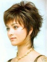 whole sale 1pcs can new Stylish short wavy human made hair wig/wigs